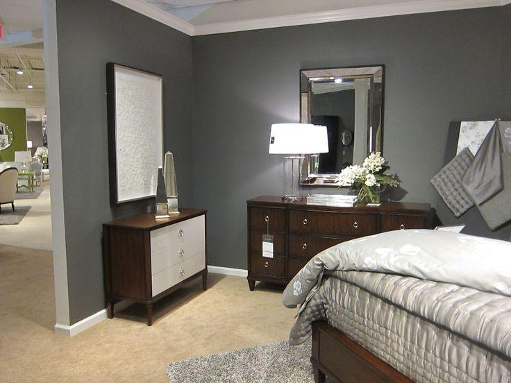 Benjamin moore iron mountain paint in our ethan allen - Best bedroom paint colors benjamin moore ...