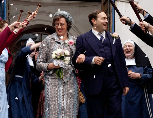 Call the Midwife - Chummy's wedding day! I love midwives and officers hailing them with their instruments :)