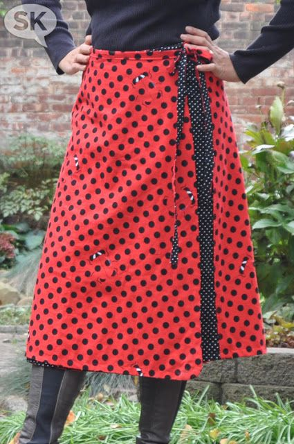 Reversible wrap skirt free pattern
