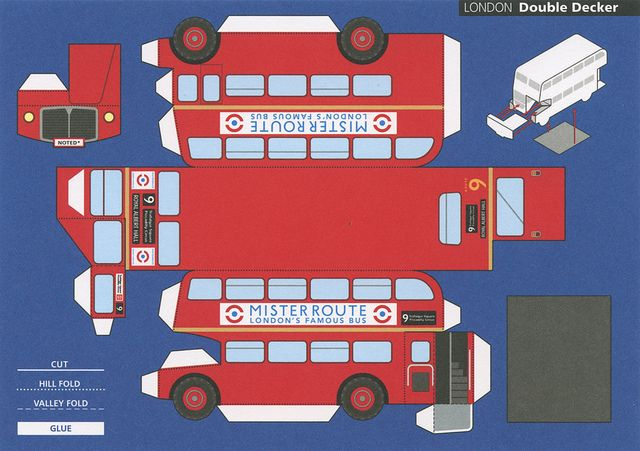 Make City, London, Double Decker - Cut Out Postcard | Flickr - Photo Sharing!