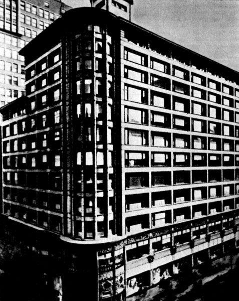 198. Универмаг в Чикаго. 1899-1904 гг. арх. Л. Салливен