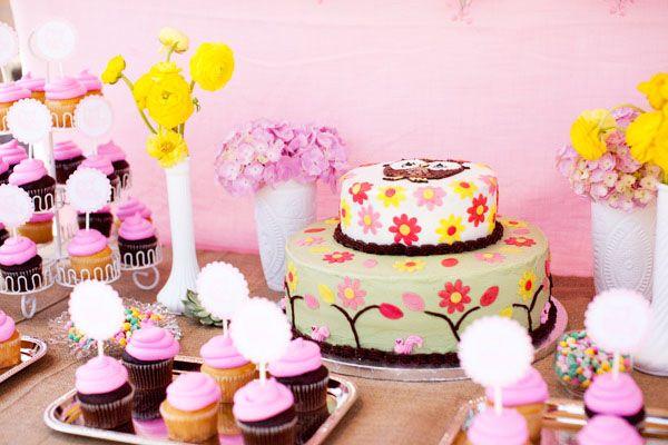 Darling Woodland Owl Baby Shower {Girl}: Owl Baby Showers, Cake, Baby Shower Ideas, Owl Babies, Baby Girl, Baby Shower Themes, Party Ideas, Birthday Ideas, Baby Shower