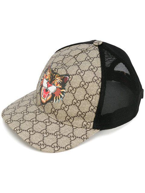 GUCCI Cat print GG Supreme baseball hat.  gucci  hat   Gucci Men ... a9575f52834