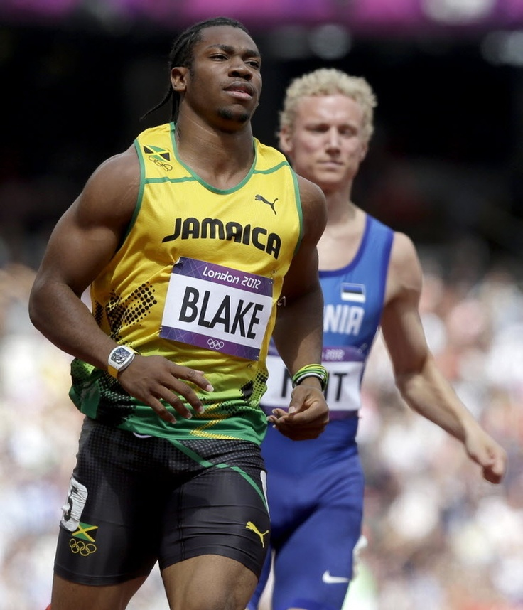 Yohan Blake wearing a Richard Mille RM038 while running the 100m | Usain bolt, Olympics, Athlete