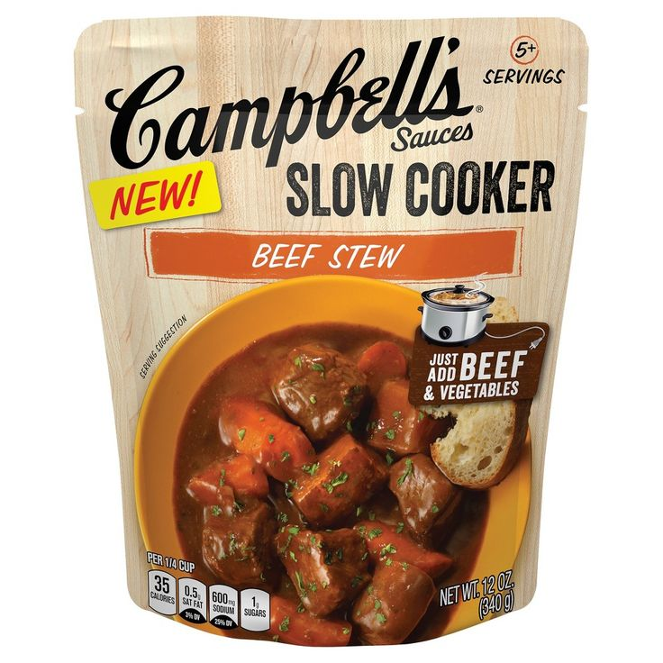 Campbell's Slow Cooker Sauces Beef Stew 12 oz