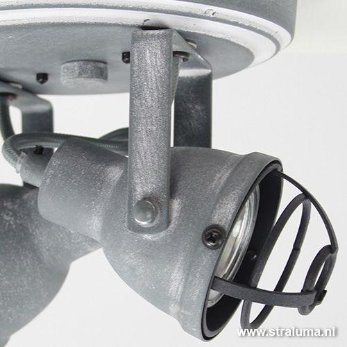 Industriele spot 2-lichts betonlook - www.straluma.nl