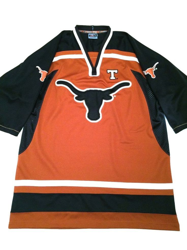 University of Texas Longhorns Hockey Jersey Colosseum Athletics Men XXL 2XL EUC #ColosseumAthletics #TexasLonghorns