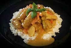Easy Peasy Curried Sausages |