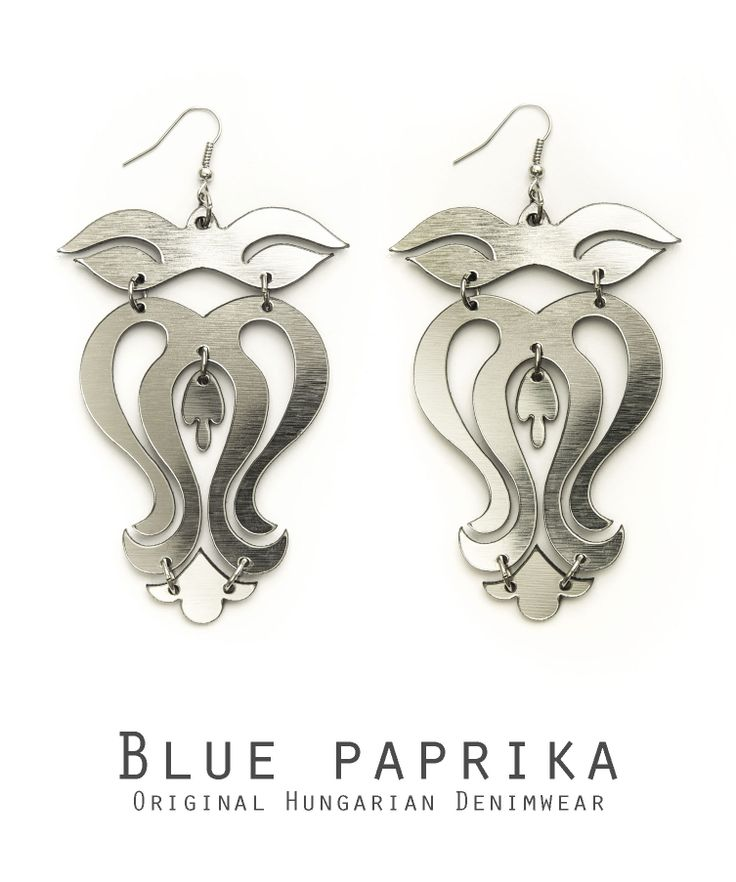 Ezüst színű kis leveles szűrvirág fülönfüggő