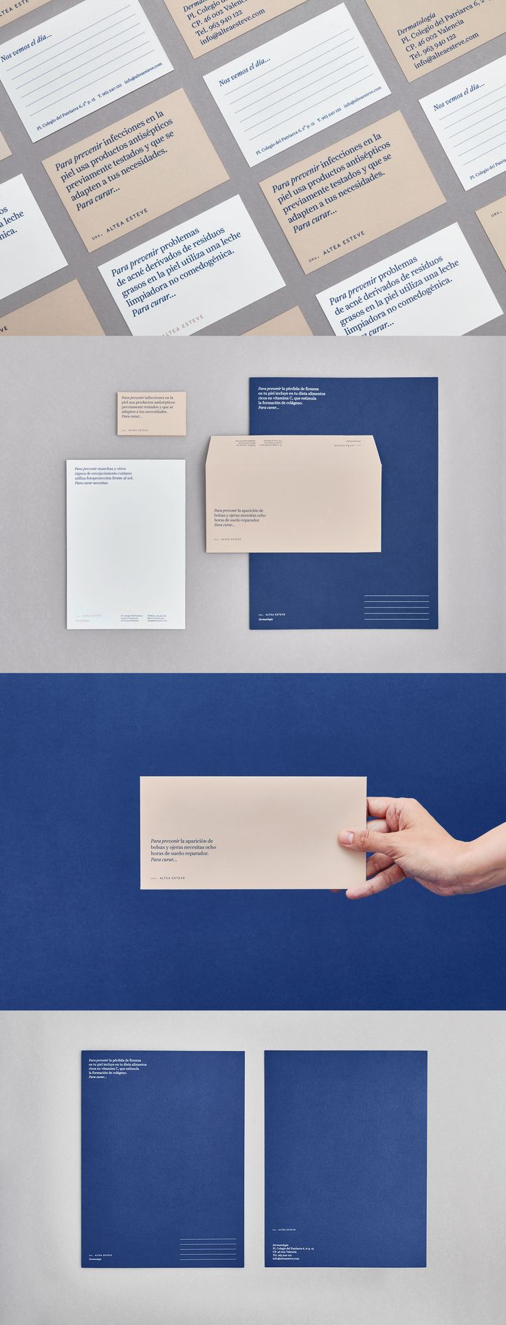 Inspiring graphic design. Minimal business card and stationery design.