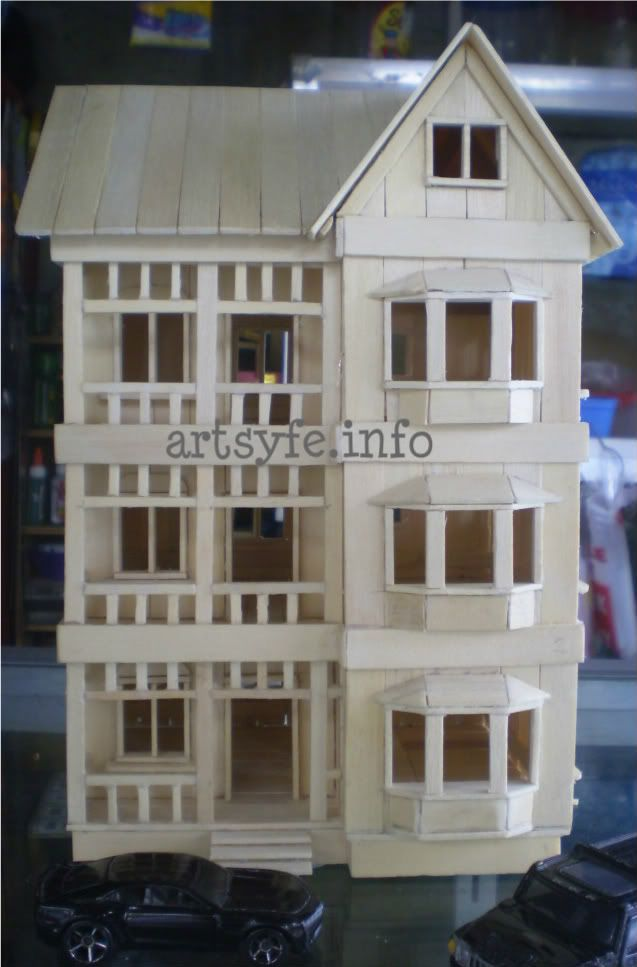 Popsicle sticks house creations collections for Ideas for building with popsicle sticks