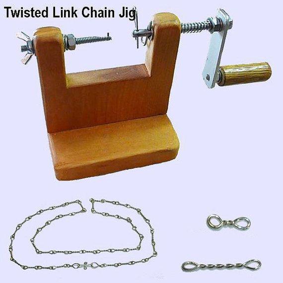 Twisted Link Chain Jig Jewelry Tool Chain by DeeCeesWireWonders