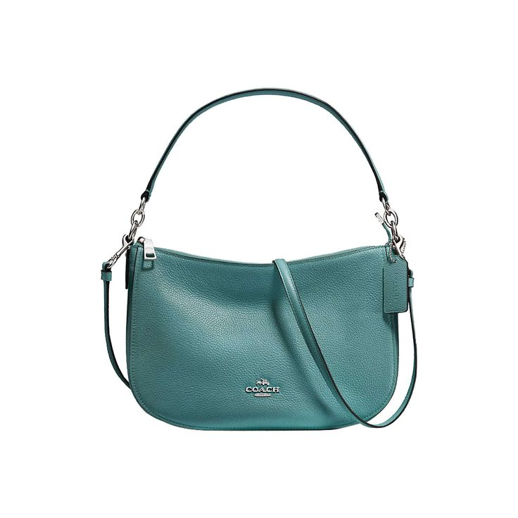 BuyCoach Chelsea Polished Pebble Leather Cross Body Bag, Marine Online at johnlewis.com