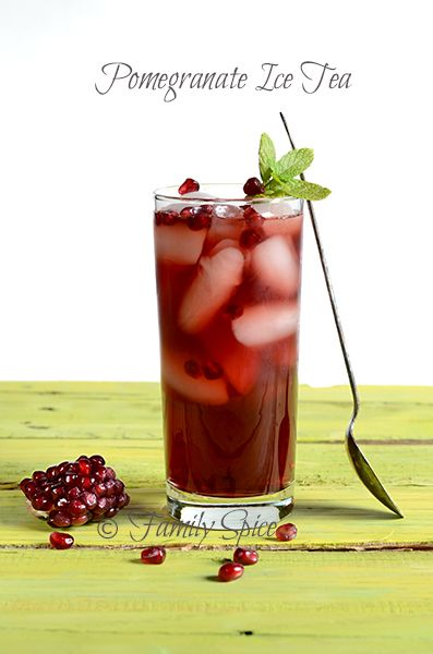 ♣~ Pomegranate Iced Tea ~♣                                                    #pomegranate  #icedtea