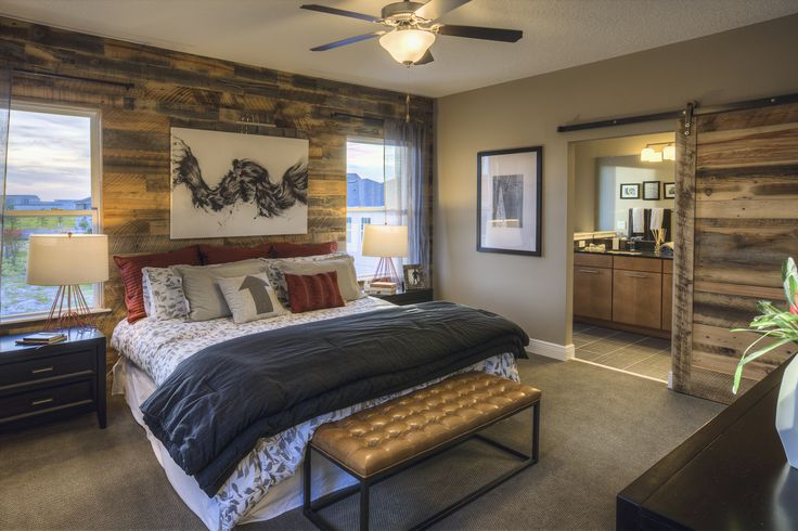 A Barn Door To Your En Suite Gives Your Master Bedroom A