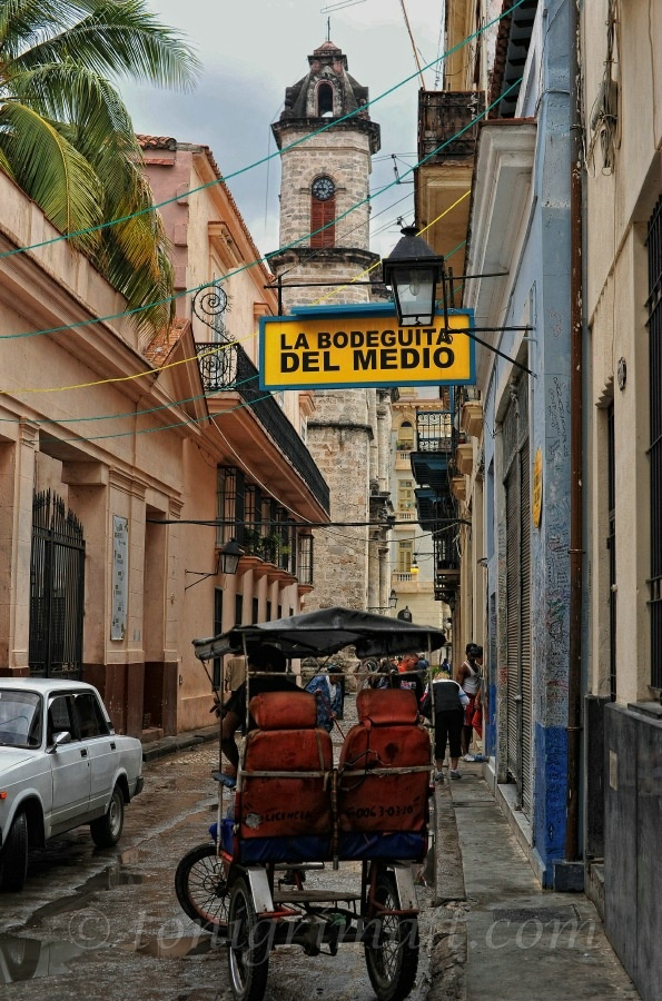 la bodegita del medio is a famous bar restaurant bar in cuba made famous by Ernest Hemingway, poet Pablo Neruda, and Salvador Allende..if you go there you must order a mojito....love
