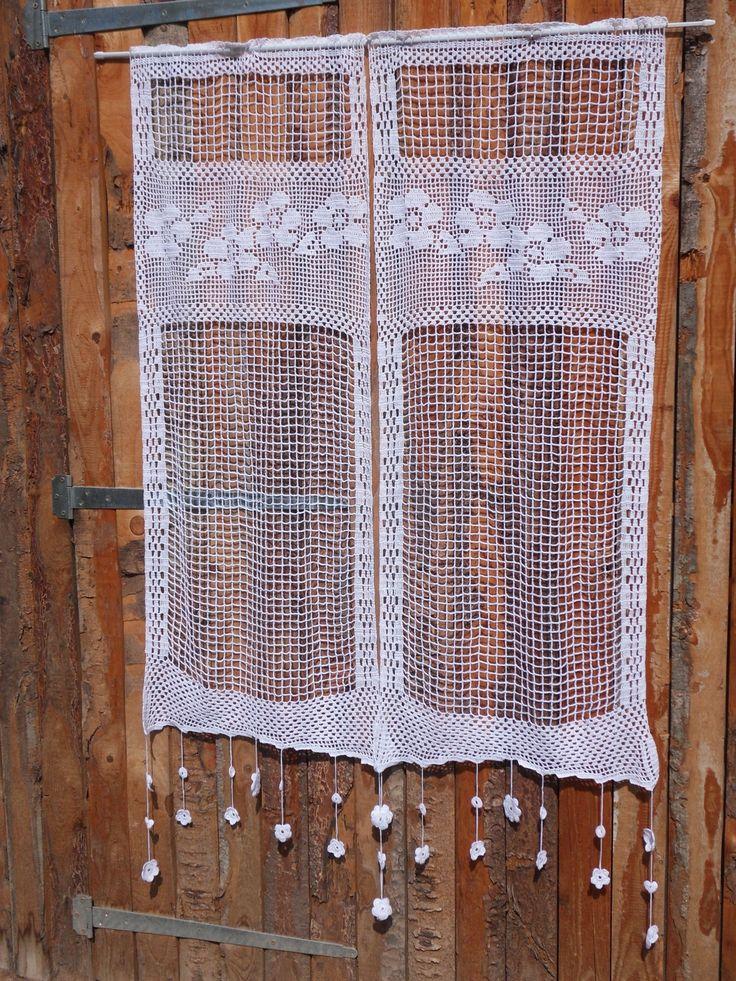 372 best rideaux au crochet images on pinterest crochet patterns crochet motif and crochet. Black Bedroom Furniture Sets. Home Design Ideas