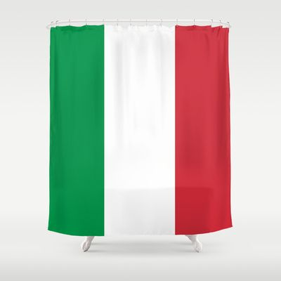 The National Flag of Italy - Authentic Version Shower Curtain by LonestarDesigns2020 - Flags Designs + - $68.00