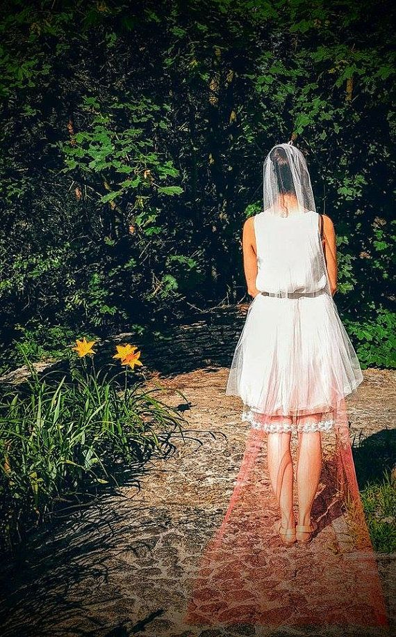 Ombre long veil by LeVoilePL on Etsy