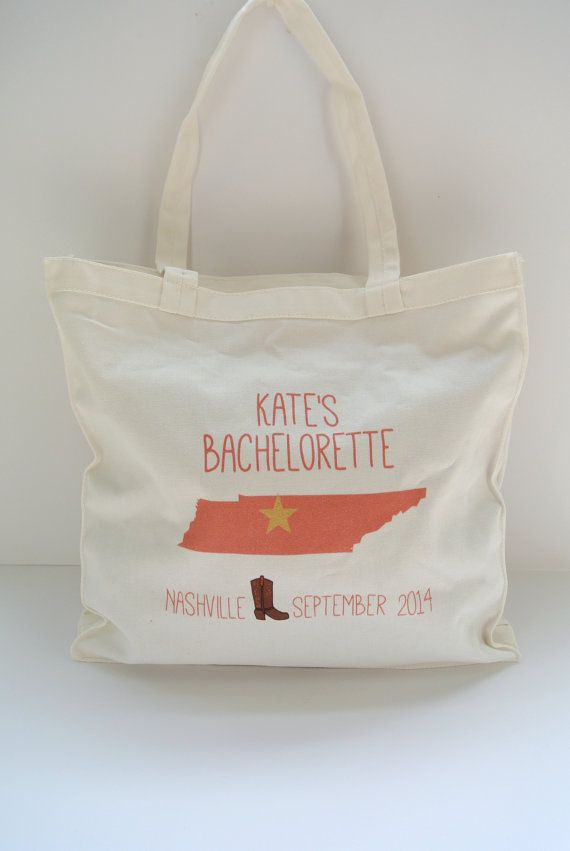 Country Western Bachelorette Party Totes by yourethatgirldesigns