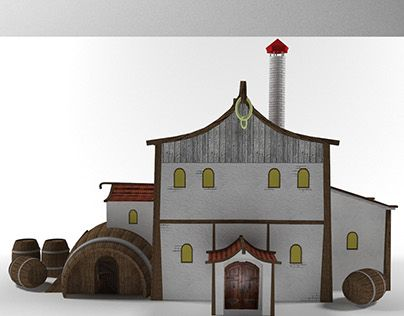 """Check out new work on my @Behance portfolio: """"3d Low Poly Taverna"""" http://be.net/gallery/45814999/3d-Low-Poly-Taverna"""