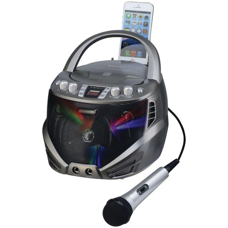 Karaoke Usa Portable Cd+g Karaoke Player With Flashing Led Lights