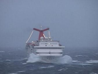 A Cruise is not always sun and fun. Estacy, CCL, during the hurricane Rita in 2005.