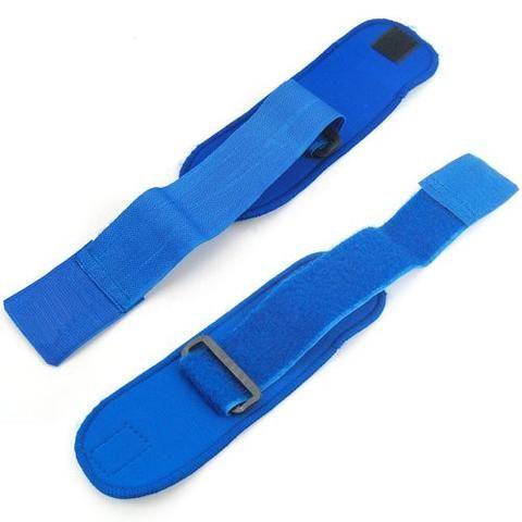 Weight Lifting Blue Wrist Wraps