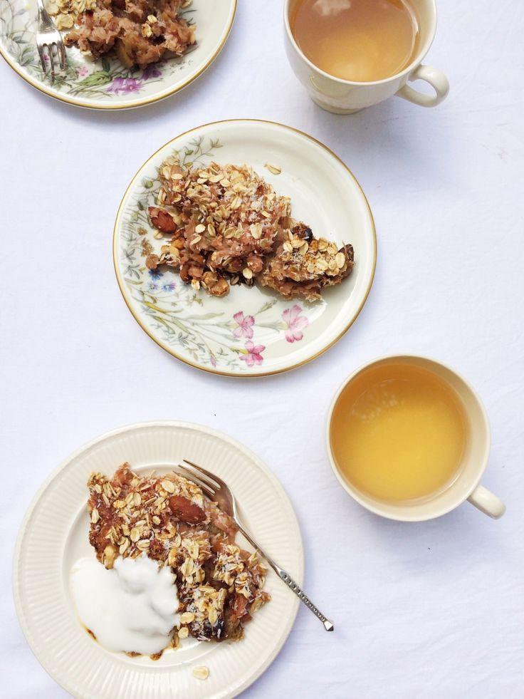 Crumble recept met rabarber - gezond made by ellen