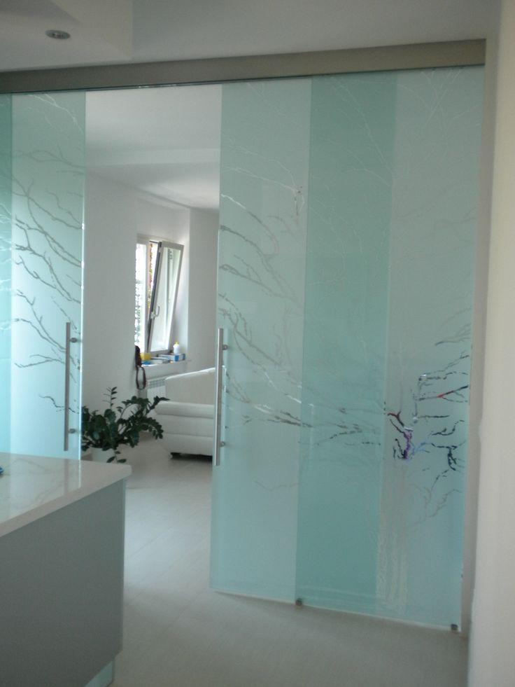 Casali porte in vetro sabbiate e incise modello albero - Casali porte prezzi ...