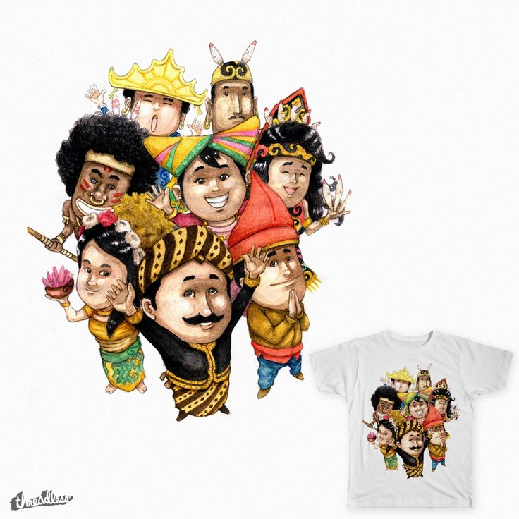 Indonesia on Threadless