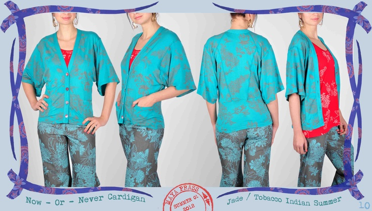 010 Now-or-Never cardigan in jade Indian Summer