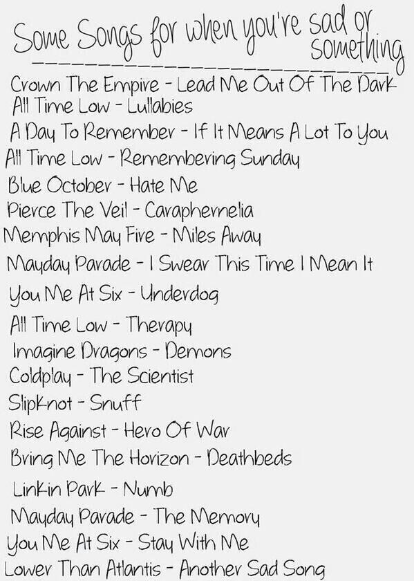 beste englische traurige Lieder Liste