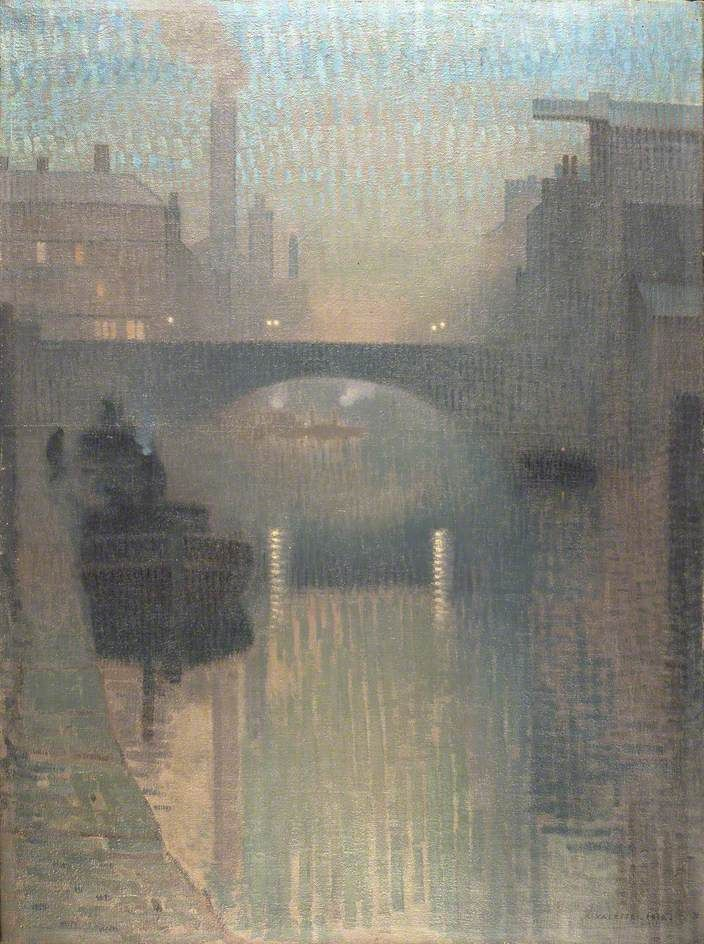Pierre Adolphe Valette (French 1876–1942) [Impressionism]   'Bailey Bridge, Manchester', 1912.