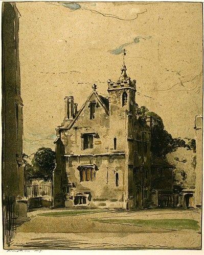William Nicholson Grammar School, Magdalen. #oxford #lithograph
