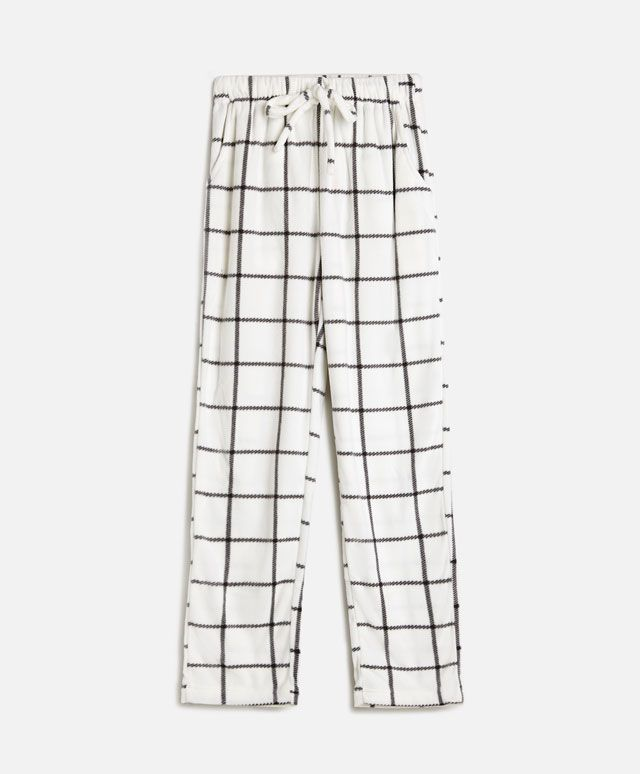 Pantalon micropolaire carreaux - OYSHO