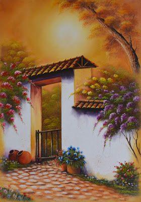 Paisajes f ciles de pintar al leo bodegones y paisajes - Cuadros para pintar en casa ...