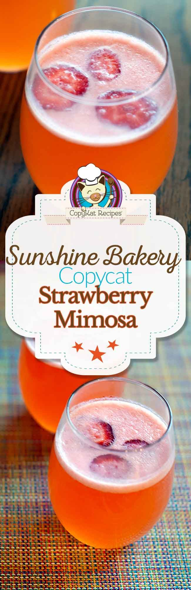 Sunflower Bakery and Cafe Strawberry Mimosa
