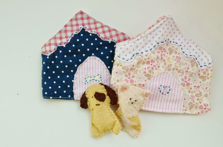 Snugglebug University: Cat and Dog, kat en hond met speelhuisje, tutorial en patroon, cat and dog with playhouse, free pattern