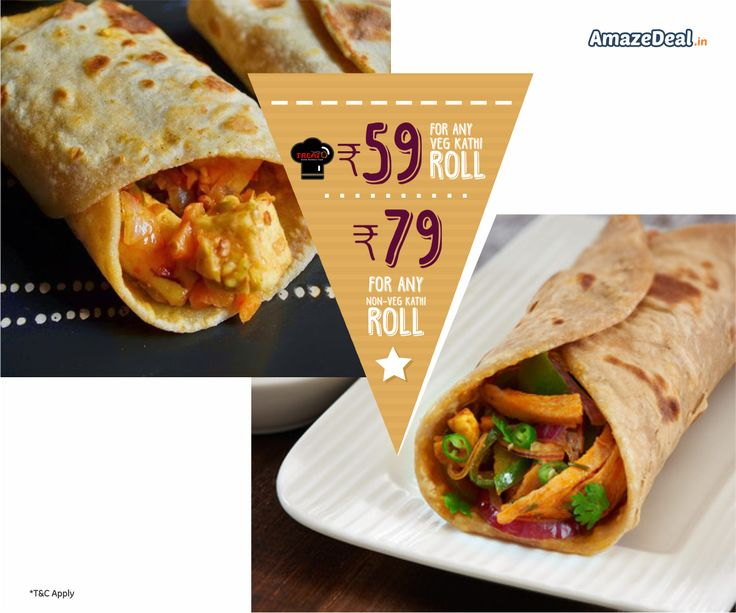 ● Rs.59 to Get Any Veg Roll Worth Rs.90. ● Rs.79 to Get Any Non-Veg Roll Worth Rs.180. Only At - bit.ly/AD-TreatO  #AmazeDeal #AmazingSavings #StayAmazed