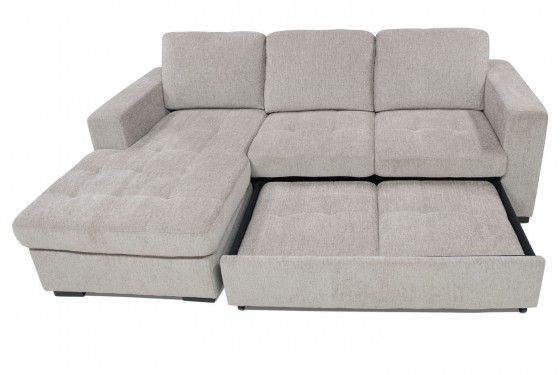 Claire Sand Right Facing Sleeper Sectional Media Image 3 Sleeper