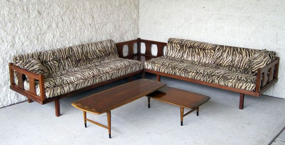 Mid century modern  zebra  sectional sofa u2014 Fixed price $695 | Fen Sway | Pinterest | Sectional sofa Mid-century modern and Mid century : danish modern sectional - Sectionals, Sofas & Couches