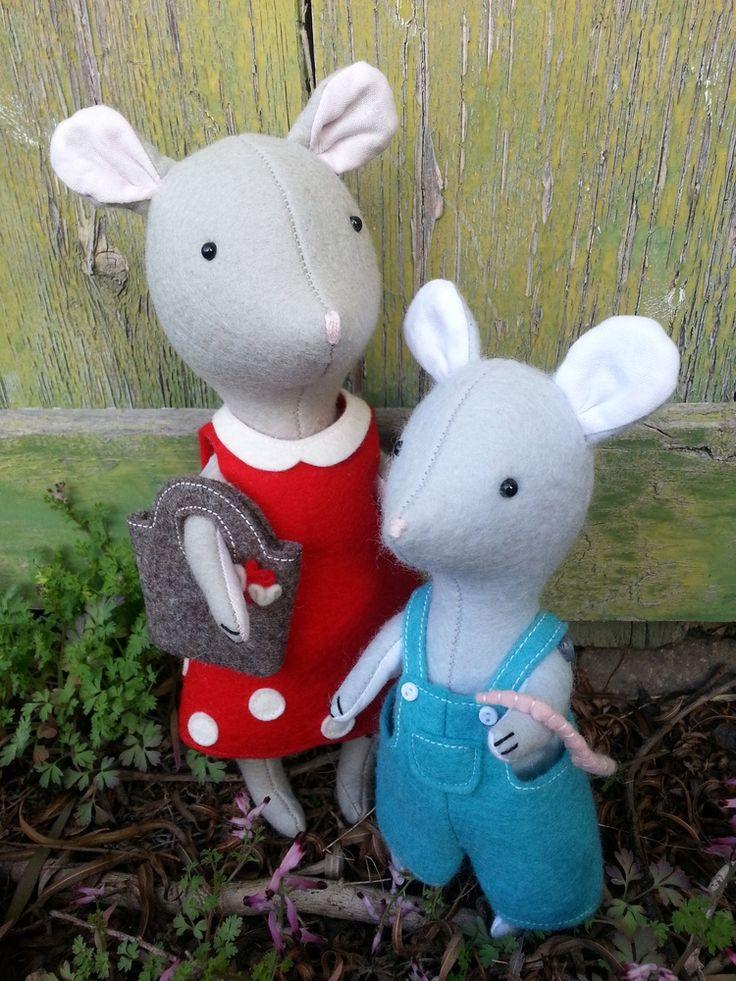 Дарла и Бин: PDF швейная шаблон Джоди Карлтон для Ric RAC.  мышь игрушка, мышь плюша, мышь тряпка, мышь швейная шаблон