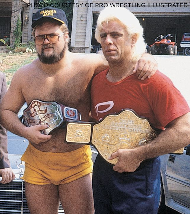 NWA World Television Champion Arn Anderson and NWA World Heavyweight Champion Ric Flair