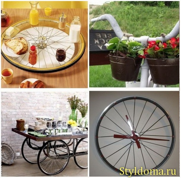 Несколько способов как использовать старый велосипед  http://styldoma.ru/sdelaj-sam/stary-j-velosiped