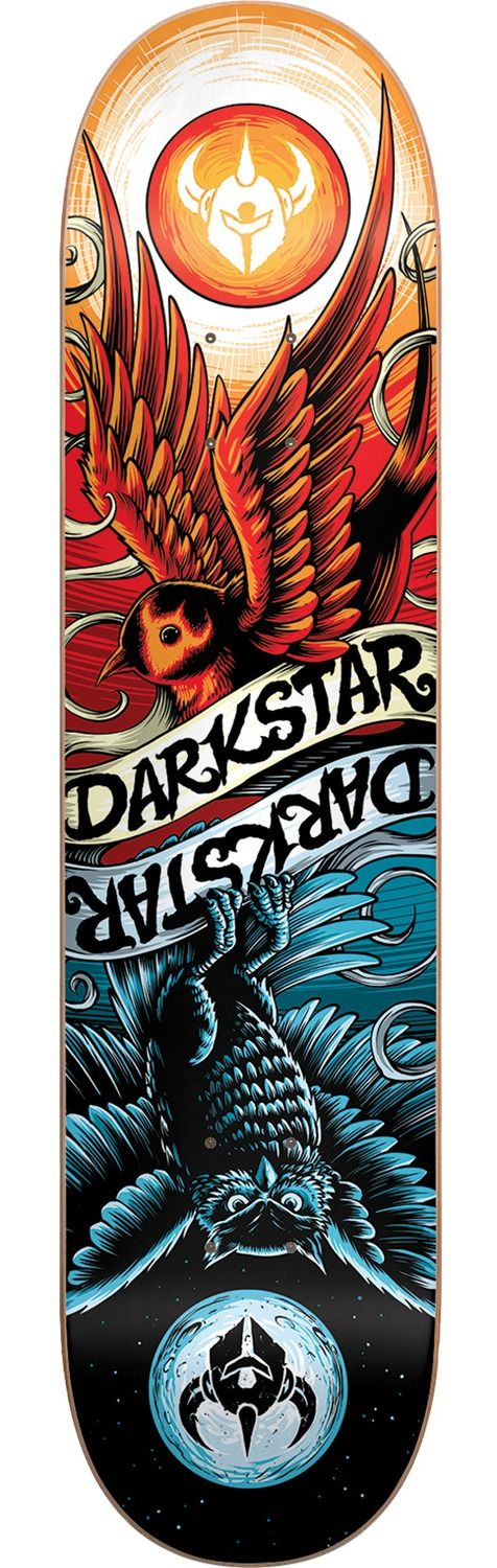 Darkstar Skateboards Early Bird Red  Blue Skateboard Deck