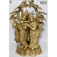 Brass Radha Krishna Statues 06