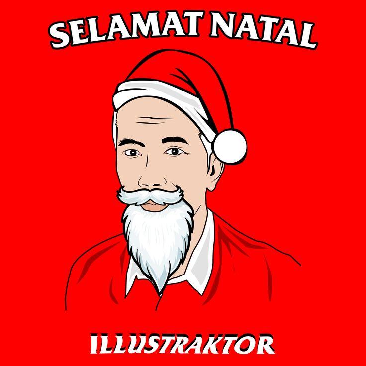 Mr.President of Indonesia saying happy new year for all people.  #Illustrator #illustration #Jokowidodo #Indonesia #2017 #Merrychristmas