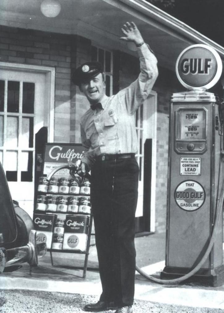 Gas Station Attendant... What luxury and a thing of the past.