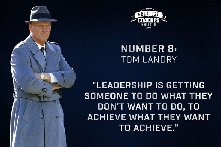 """Hats off to the father of the 4-3 Defense and original coach of """"America's Team"""". Our number 8 Coach in NFL History, Tom Landry."""